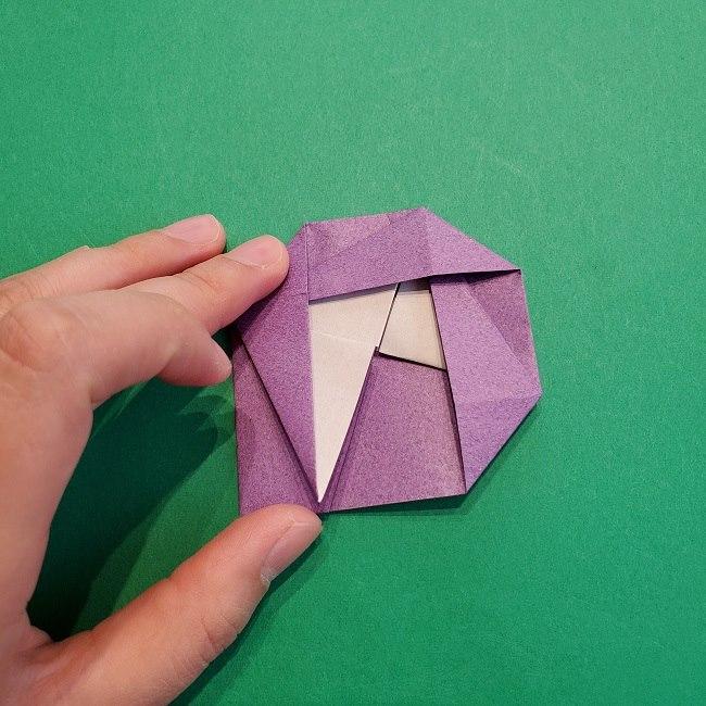 折り紙の椿(平面)の折り方・作り方(16)