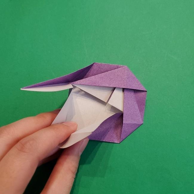 折り紙の椿(平面)の折り方・作り方(17)