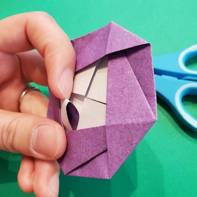 折り紙の椿(平面)の折り方・作り方(22)