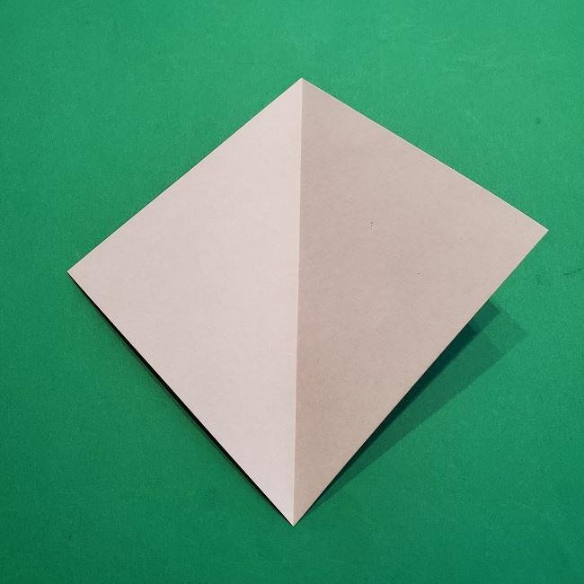 折り紙の椿(平面)の折り方・作り方(3)