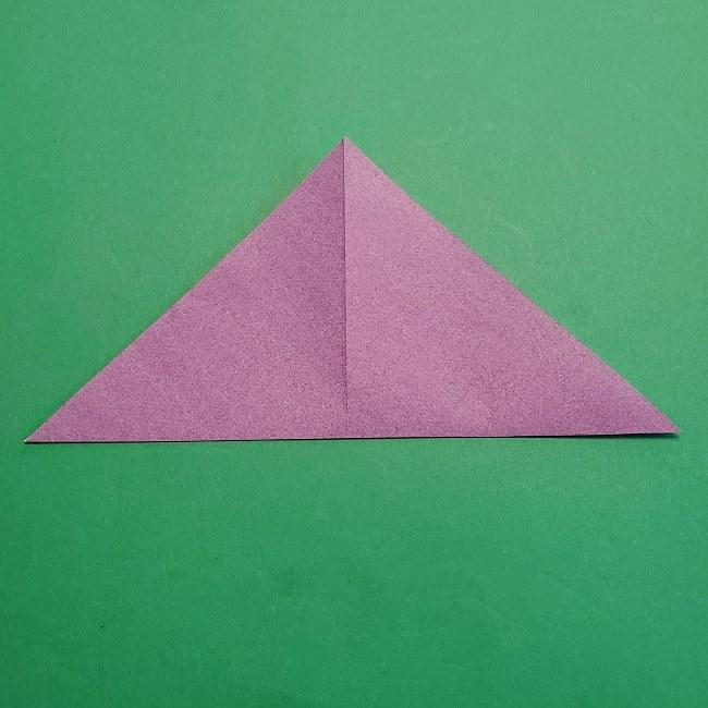 折り紙の椿(平面)の折り方・作り方(4)