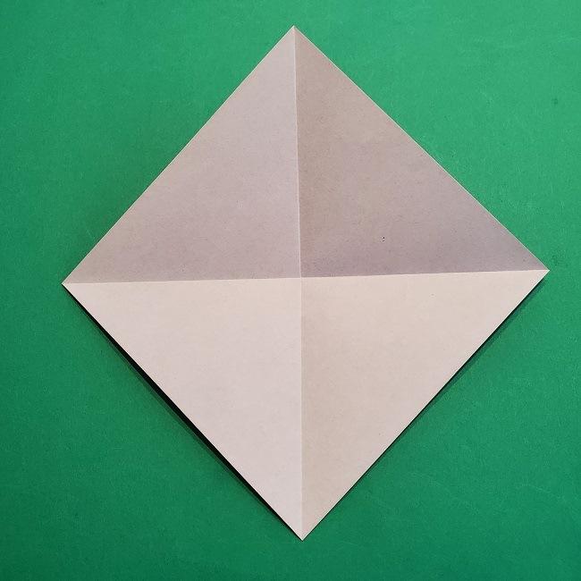 折り紙の椿(平面)の折り方・作り方(5)