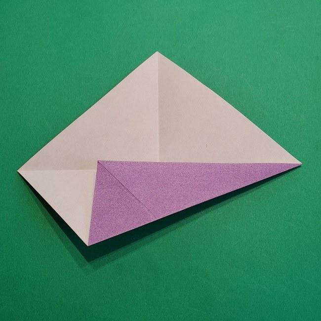 折り紙の椿(平面)の折り方・作り方(6)