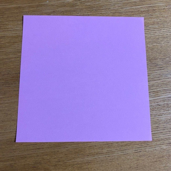 折り紙の腕時計(ハート型)の折り方・作り方 (1)