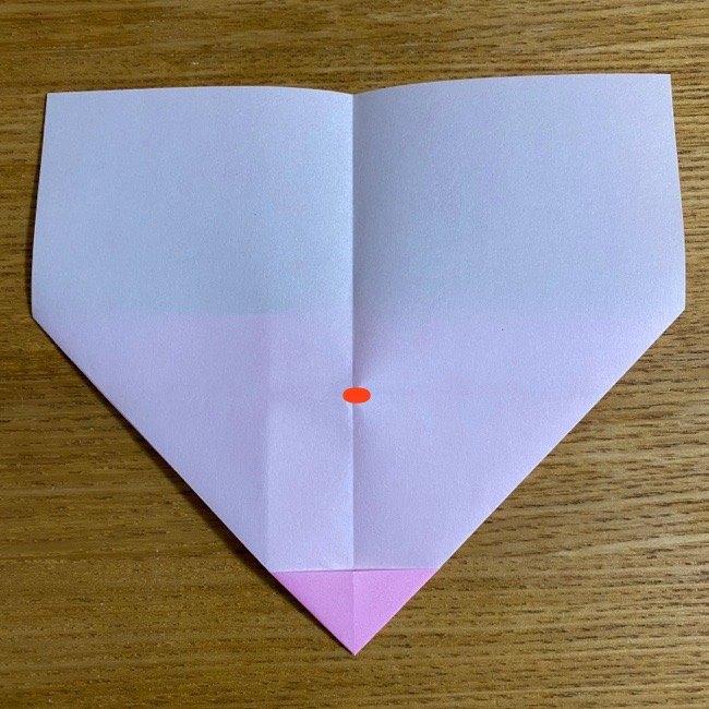 折り紙の腕時計(ハート型)の折り方・作り方 (10)
