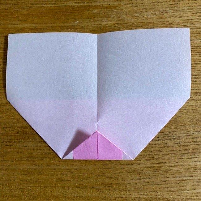 折り紙の腕時計(ハート型)の折り方・作り方 (11)