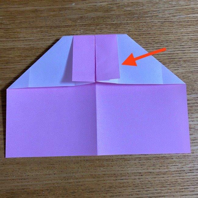 折り紙の腕時計(ハート型)の折り方・作り方 (12)