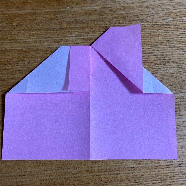 折り紙の腕時計(ハート型)の折り方・作り方 (14)