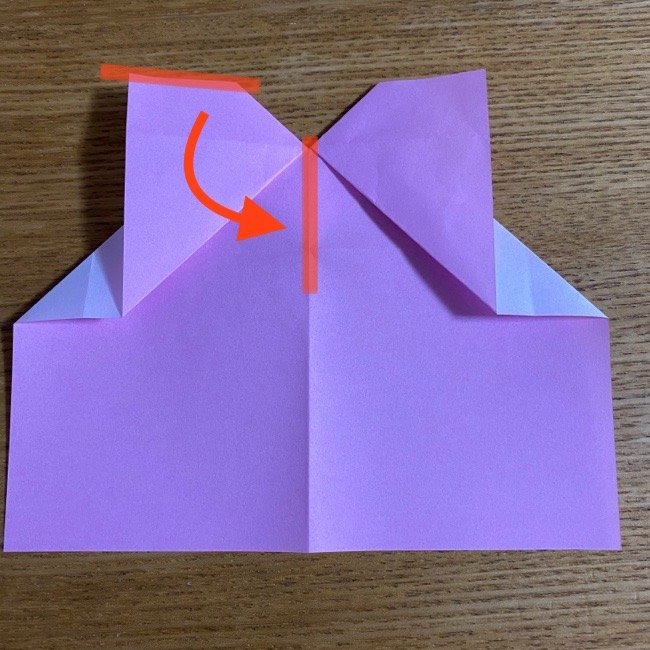 折り紙の腕時計(ハート型)の折り方・作り方 (15)