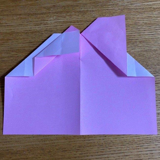 折り紙の腕時計(ハート型)の折り方・作り方 (16)