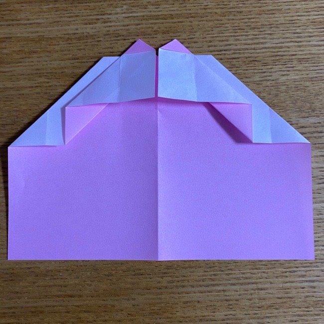 折り紙の腕時計(ハート型)の折り方・作り方 (17)