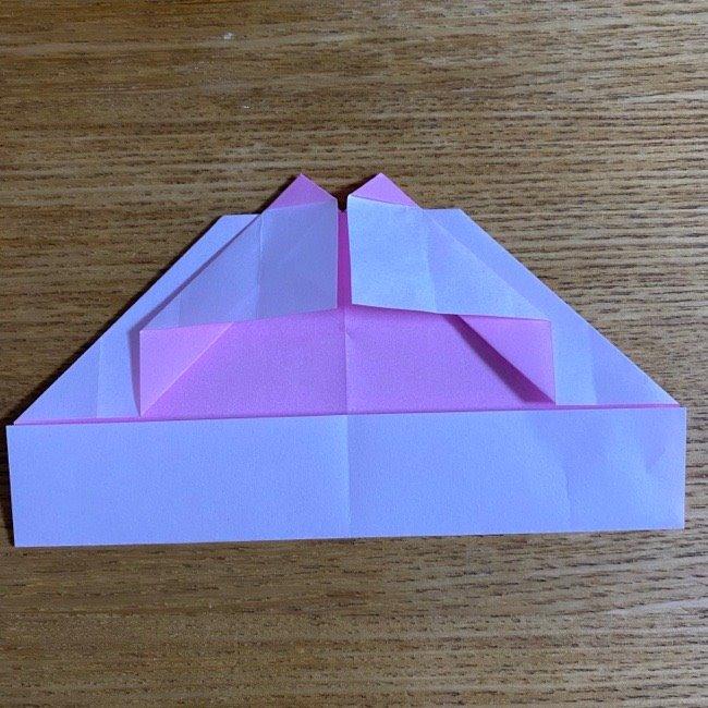 折り紙の腕時計(ハート型)の折り方・作り方 (18)