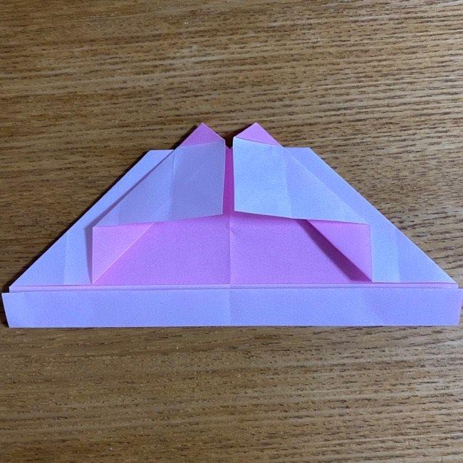 折り紙の腕時計(ハート型)の折り方・作り方 (19)