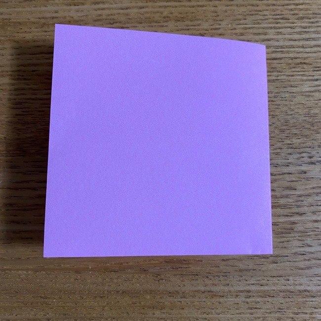 折り紙の腕時計(ハート型)の折り方・作り方 (3)