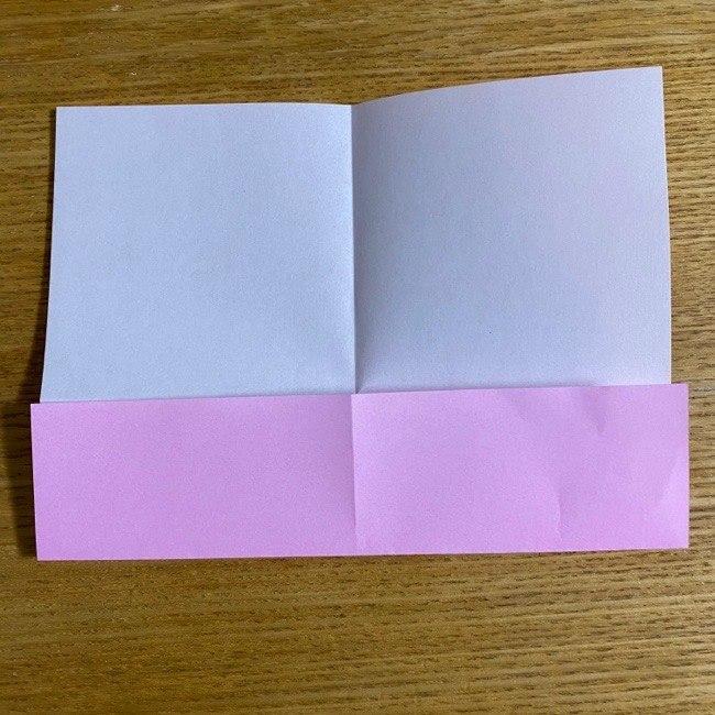 折り紙の腕時計(ハート型)の折り方・作り方 (4)