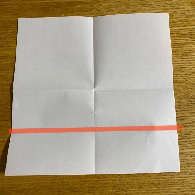 折り紙の腕時計(ハート型)の折り方・作り方 (5)