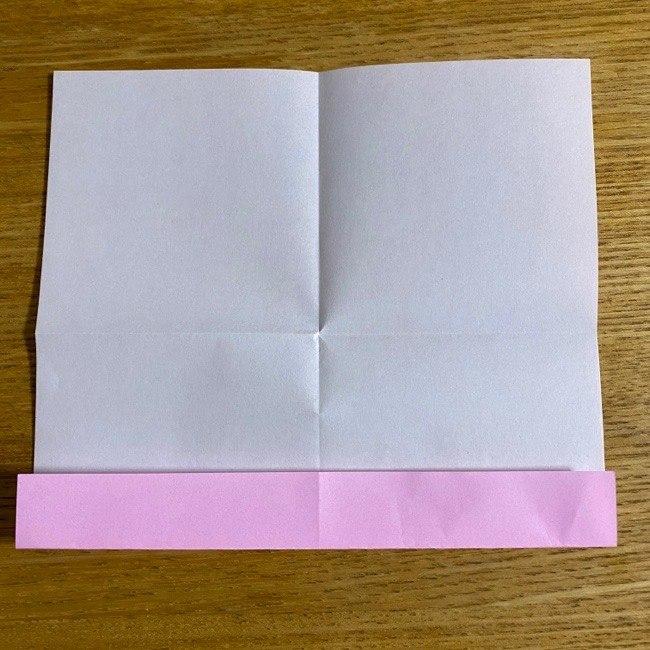 折り紙の腕時計(ハート型)の折り方・作り方 (6)
