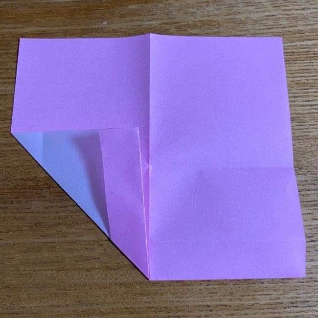 折り紙の腕時計(ハート型)の折り方・作り方 (8)