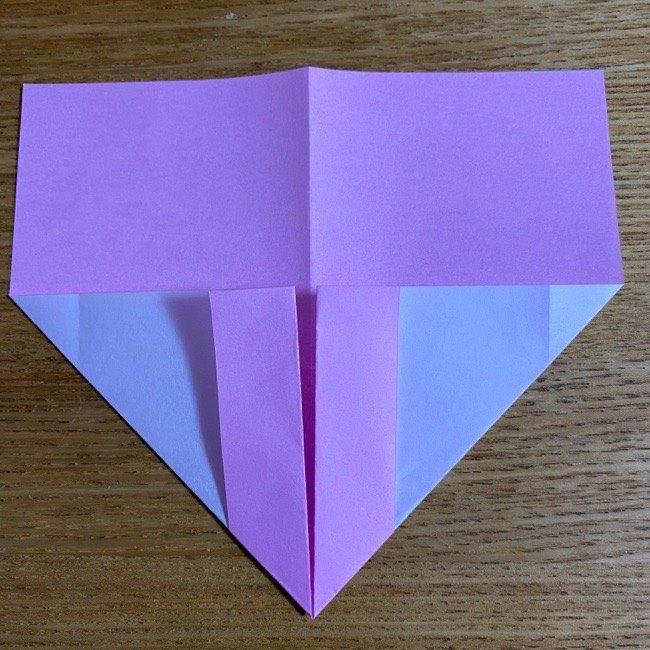 折り紙の腕時計(ハート型)の折り方・作り方 (9)