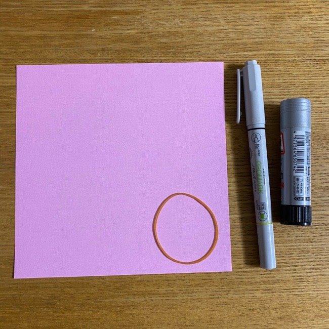 折り紙の腕時計(ハート型):用意する物
