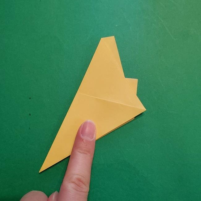 松竹梅【梅】の折り紙は正月飾りにも使える!折り方・作り方 (10)