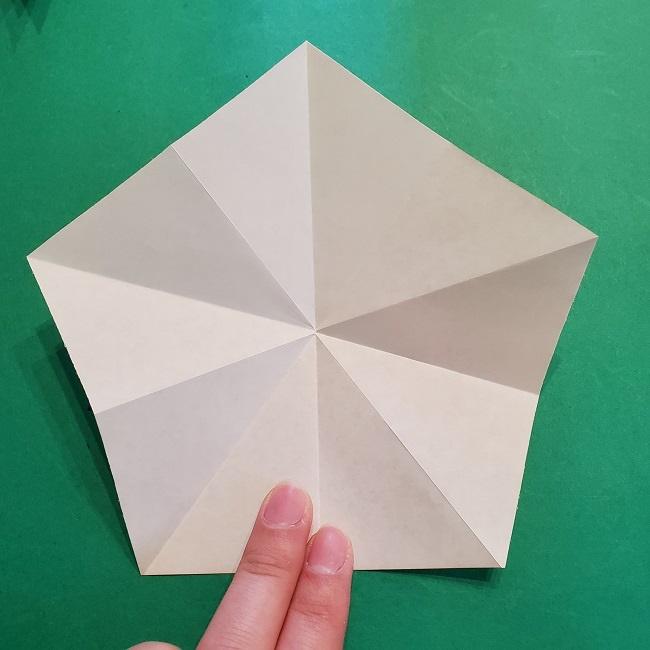 松竹梅【梅】の折り紙は正月飾りにも使える!折り方・作り方 (14)