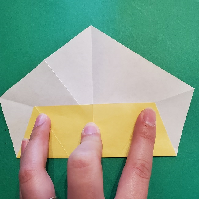 松竹梅【梅】の折り紙は正月飾りにも使える!折り方・作り方 (15)