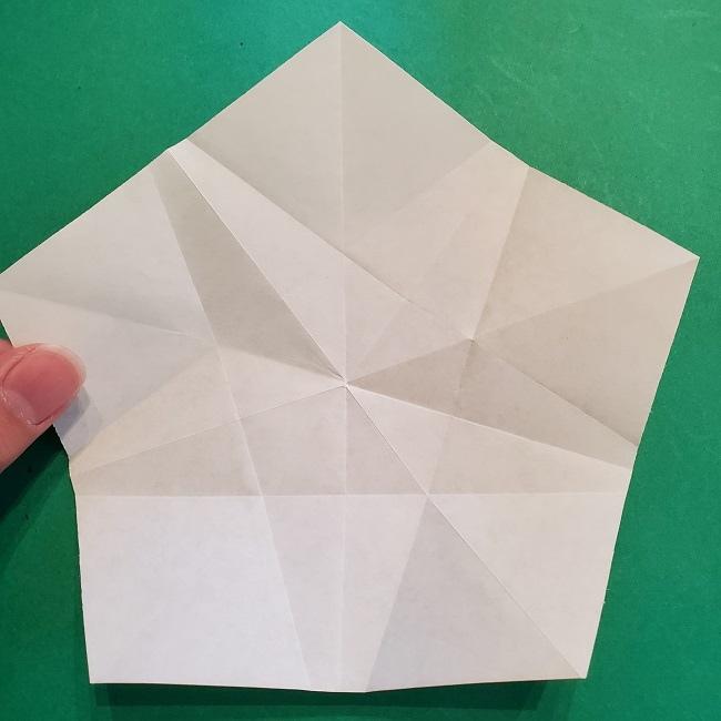 松竹梅【梅】の折り紙は正月飾りにも使える!折り方・作り方 (17)