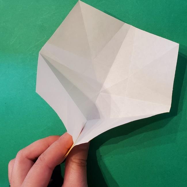 松竹梅【梅】の折り紙は正月飾りにも使える!折り方・作り方 (18)