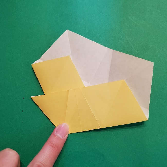 松竹梅【梅】の折り紙は正月飾りにも使える!折り方・作り方 (19)