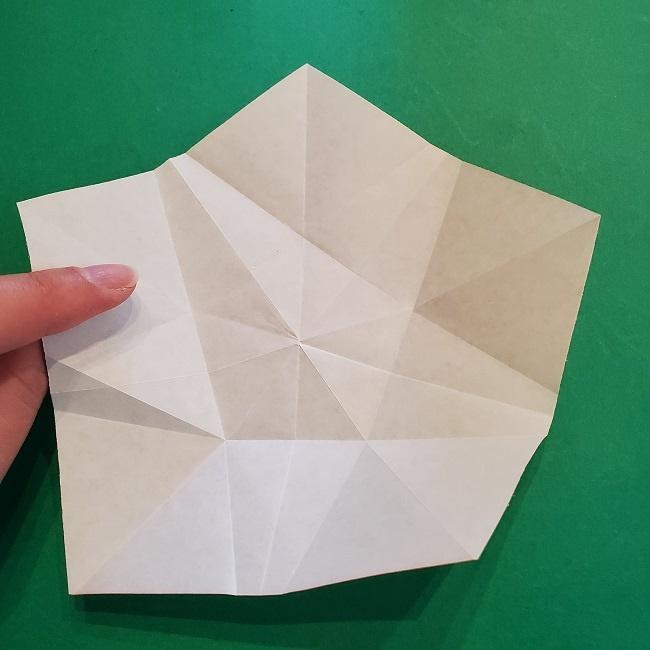 松竹梅【梅】の折り紙は正月飾りにも使える!折り方・作り方 (20)