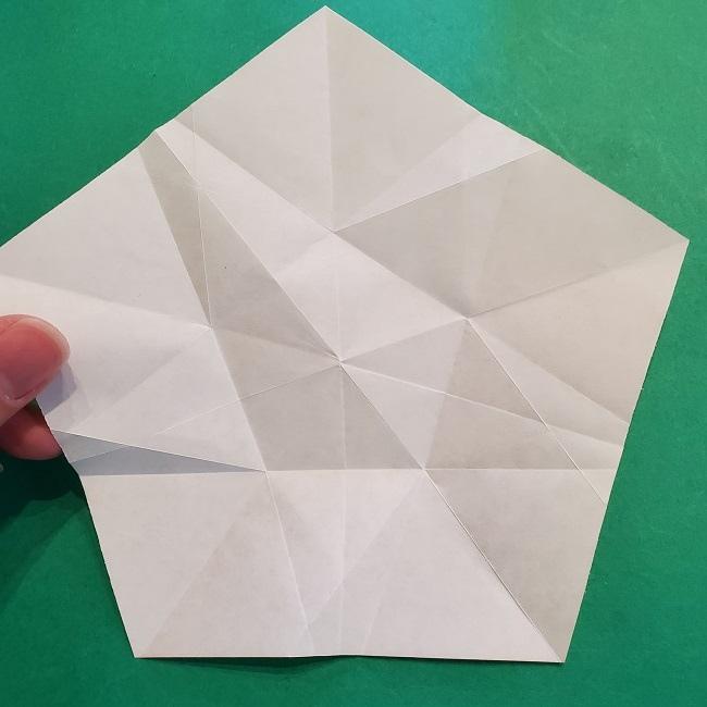 松竹梅【梅】の折り紙は正月飾りにも使える!折り方・作り方 (21)