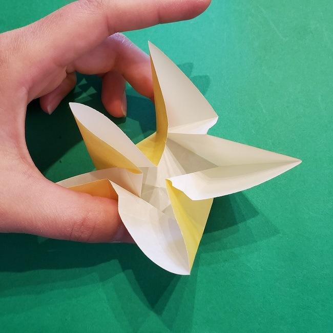 松竹梅【梅】の折り紙は正月飾りにも使える!折り方・作り方 (22)