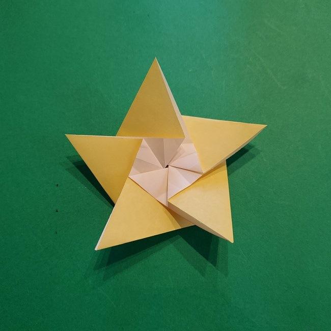 松竹梅【梅】の折り紙は正月飾りにも使える!折り方・作り方 (23)
