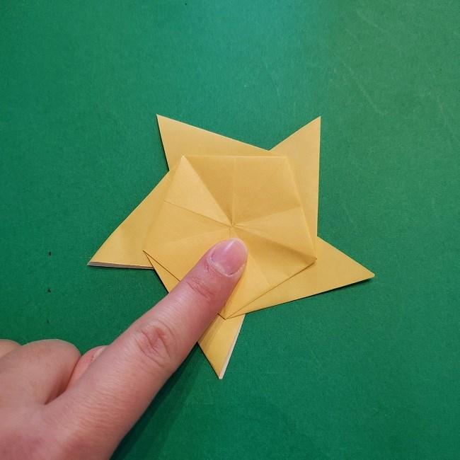 松竹梅【梅】の折り紙は正月飾りにも使える!折り方・作り方 (24)