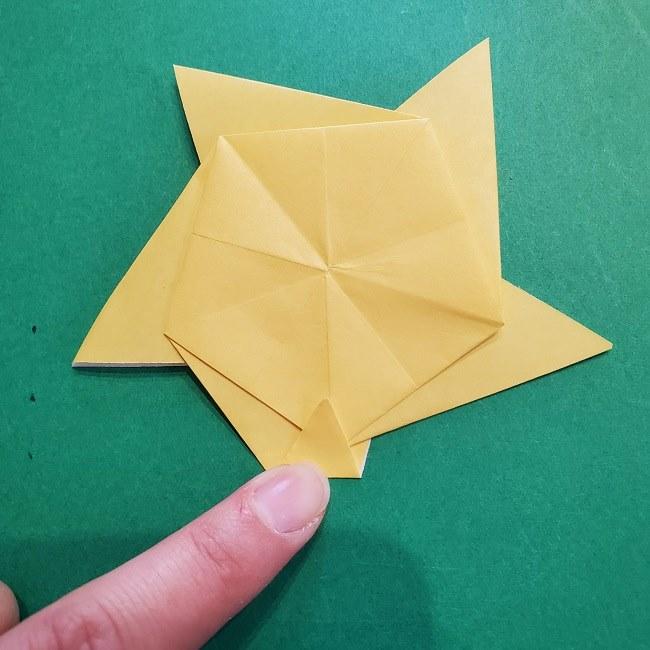 松竹梅【梅】の折り紙は正月飾りにも使える!折り方・作り方 (25)