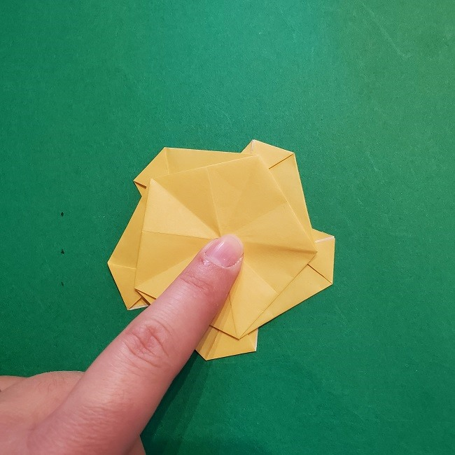 松竹梅【梅】の折り紙は正月飾りにも使える!折り方・作り方 (27)