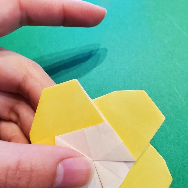 松竹梅【梅】の折り紙は正月飾りにも使える!折り方・作り方 (29)