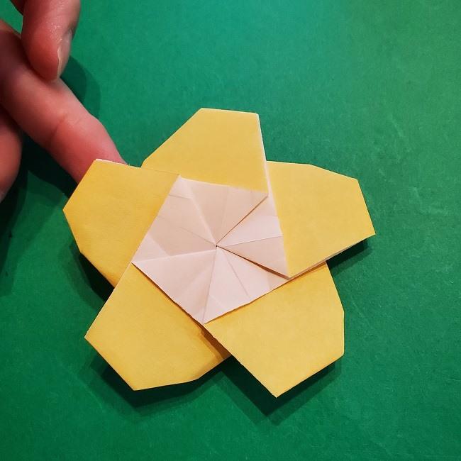 松竹梅【梅】の折り紙は正月飾りにも使える!折り方・作り方 (31)
