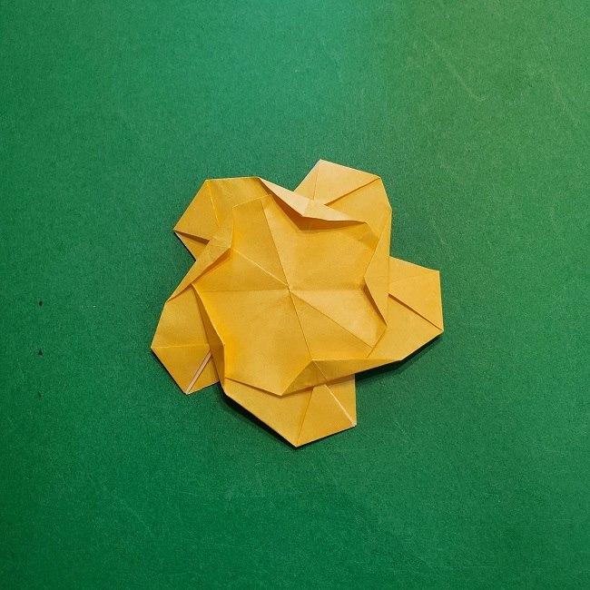 松竹梅【梅】の折り紙は正月飾りにも使える!折り方・作り方 (32)