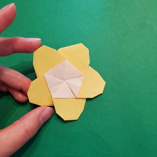 松竹梅【梅】の折り紙は正月飾りにも使える!折り方・作り方 (35)