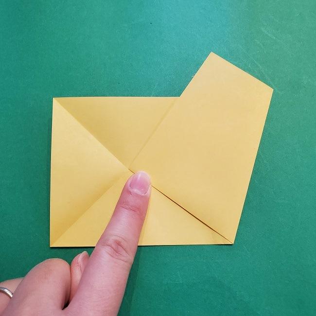 松竹梅【梅】の折り紙は正月飾りにも使える!折り方・作り方 (6)