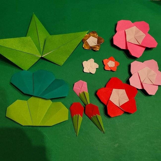松竹梅の折り紙をプラスして1月のリースに!用意