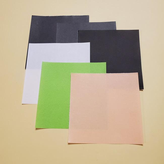 栗花落カナヲの折り紙*材料 (1)