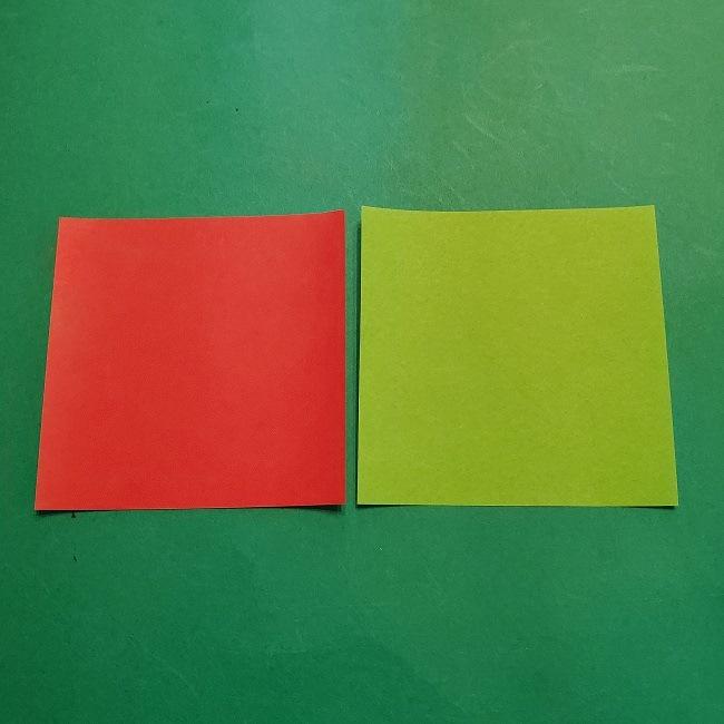 梅の花【つぼみ】の折り紙*折り方 (1)