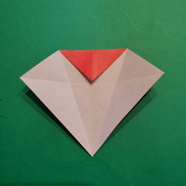 梅の花【つぼみ】の折り紙*折り方 (10)