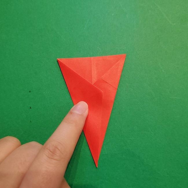 梅の花【つぼみ】の折り紙*折り方 (12)