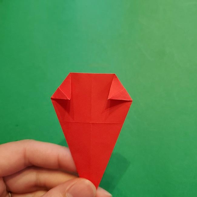 梅の花【つぼみ】の折り紙*折り方 (13)