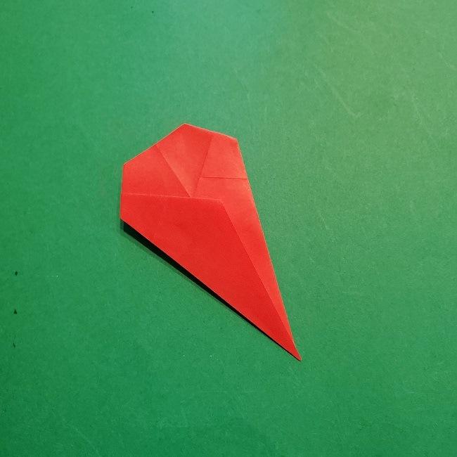 梅の花【つぼみ】の折り紙*折り方 (14)