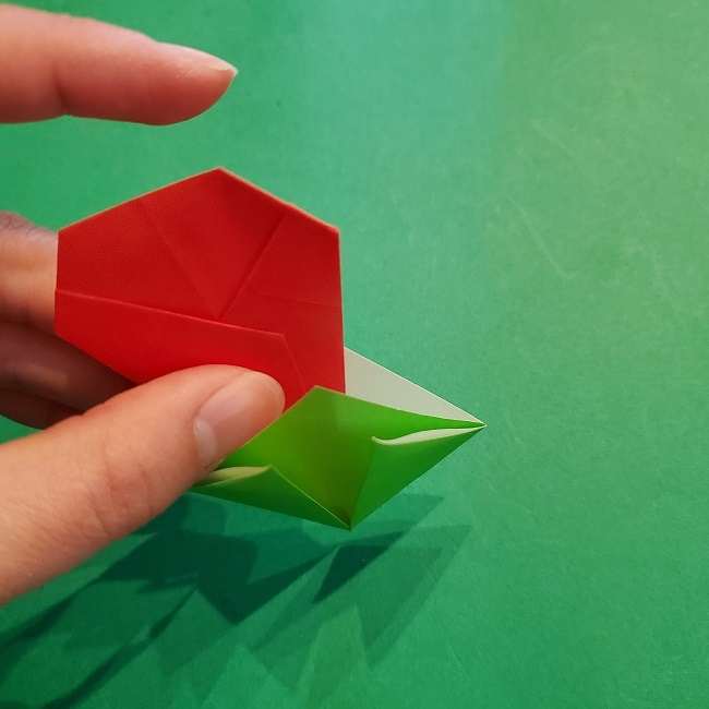 梅の花【つぼみ】の折り紙*折り方 (20)